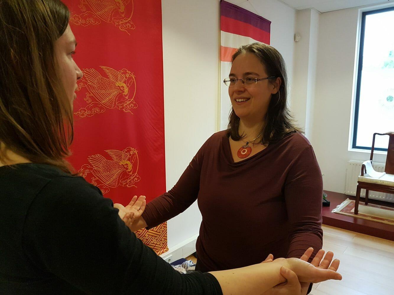 Leadership Embodiment Training - Anouk met deelnemer