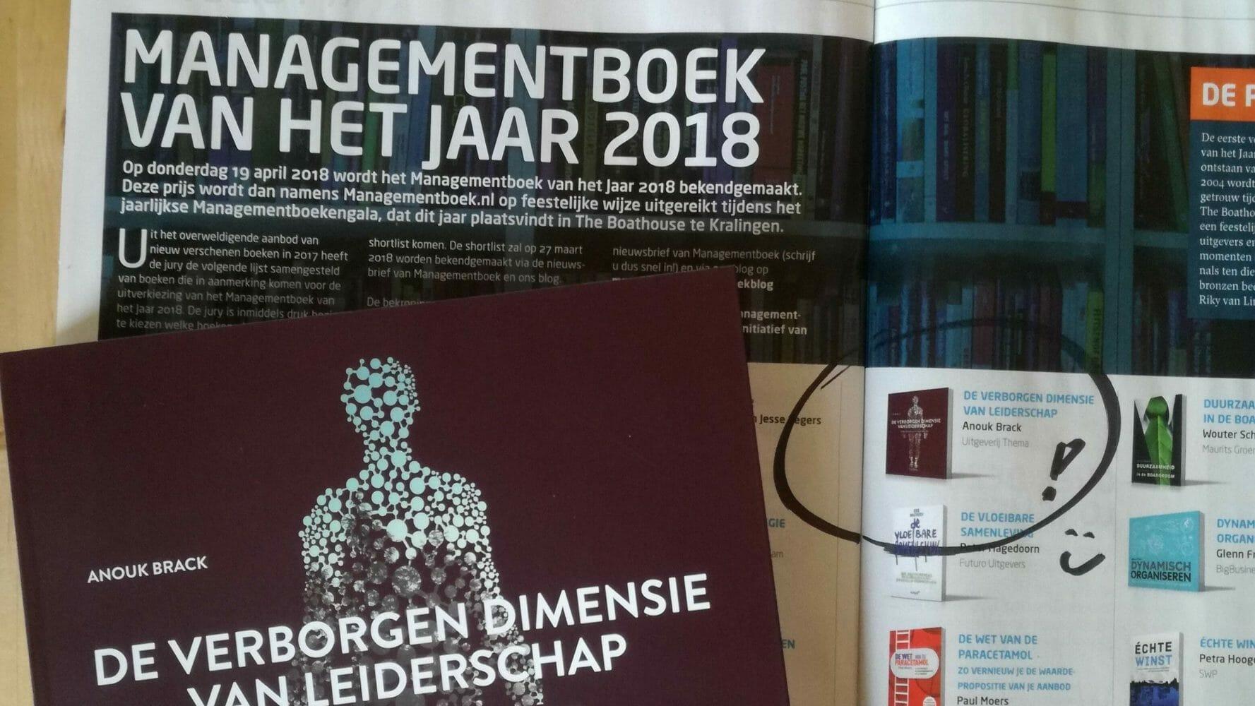 De verborgen dimensie van leiderschap op de longlist van Managementboek van het jaar 2018